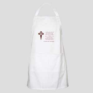 Camino Poem Red with Cross Apron