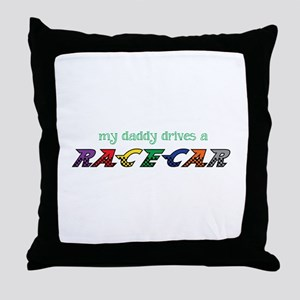 Daddy Drives Throw Pillow