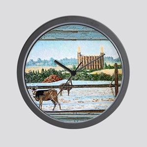 Logan temple oil painting Wall Clock