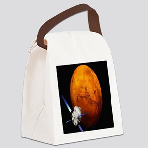 Orion Approaching The Red Planet Canvas Lunch Bag