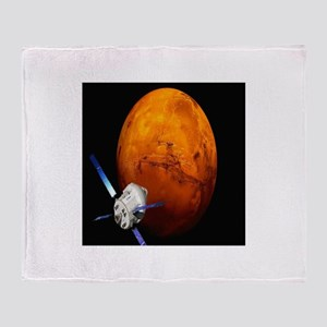 Orion Approaching The Red Planet Throw Blanket