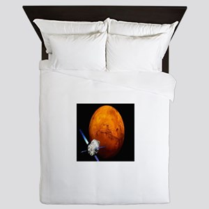 Orion Approaching The Red Planet Queen Duvet