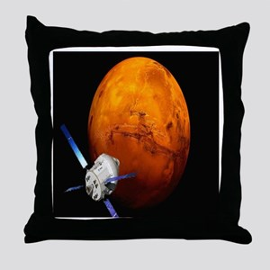 Orion Approaching The Red Planet Throw Pillow