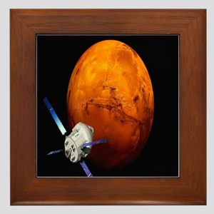 Orion Approaching The Red Planet Framed Tile
