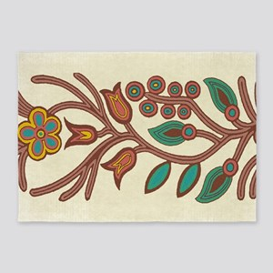 Ojibway Floral 5'x7'Area Rug