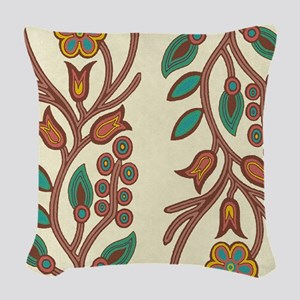 Ojibway Floral Woven Throw Pillow