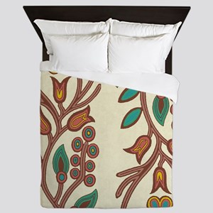 Ojibway Floral Queen Duvet
