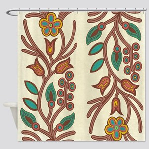 Ojibway Floral Shower Curtain
