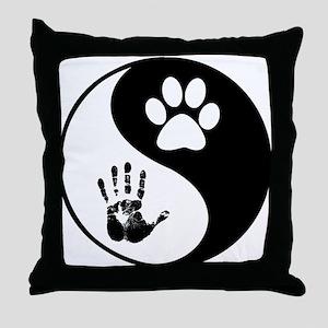 Balancing Humanity Throw Pillow