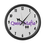 Queer Mafia Large Wall Clock