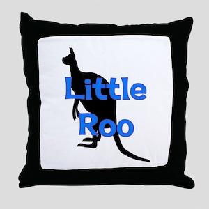 LITTLE ROO (BLUE) Throw Pillow