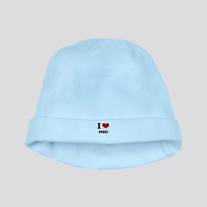 I Love Feed baby hat