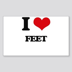 I Love Feet Sticker
