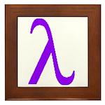 Lavender Lambda Framed Tile