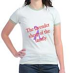 Lavender Lambda Jr. Ringer T-Shirt