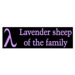 Lavender Lambda Bumper Sticker (50 pk)