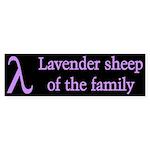 Lavender Lambda Bumper Sticker