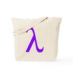 Lavender Lambda Tote Bag