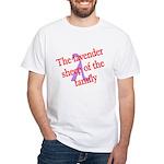Lavender Lambda White T-Shirt