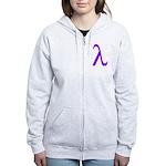 Lavender Lambda Women's Zip Hoodie