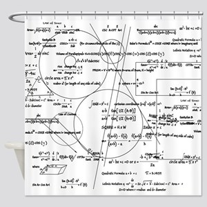 Math Bits Shower Curtain