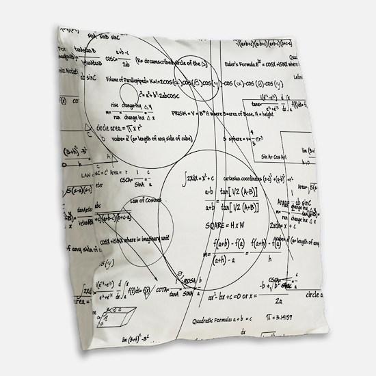 Math Bits Burlap Throw Pillow
