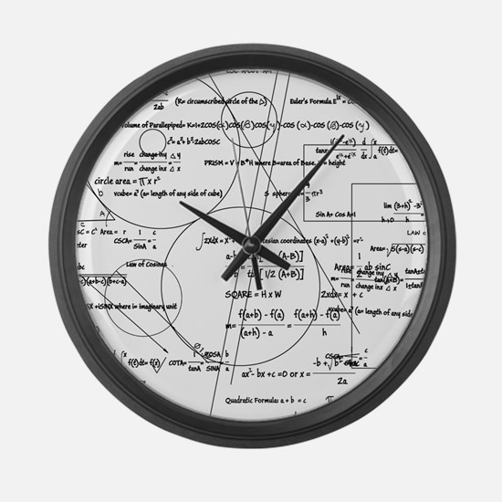 Math Bits Large Wall Clock