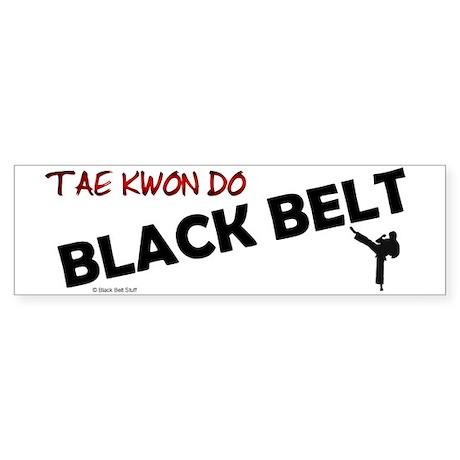 Tae Kwon Do Black Belt 2 Bumper Sticker