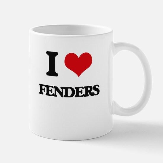 I Love Fenders Mugs