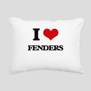 I Love Fenders Rectangular Canvas Pillow