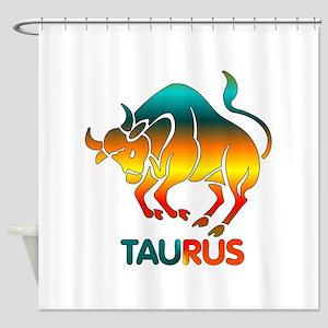 Rainbow Taurus Shower Curtain