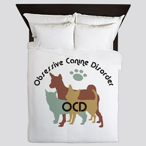 Obsessive Canine Disorder 222 Queen Duvet