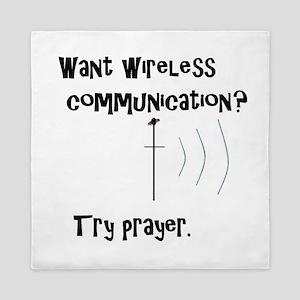Wireless Communication Prayer Queen Duvet