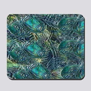 Colorful Peacock Feathers Mousepad