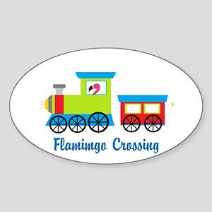 Flamingo Crossing Train Sticker