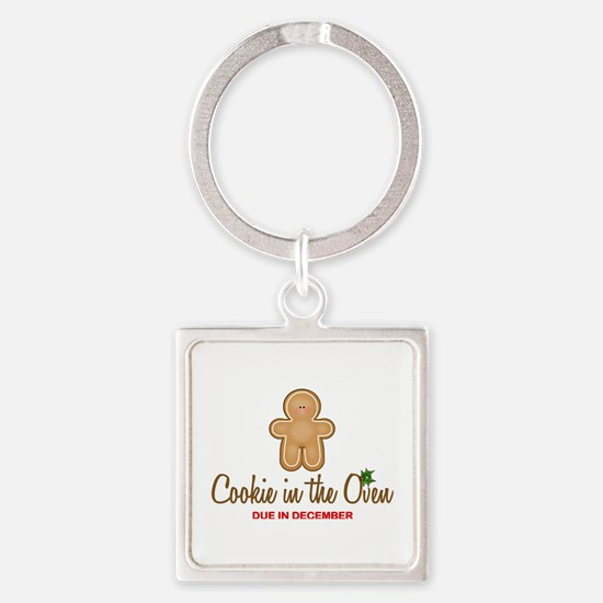 Cookie Due December Square Keychain