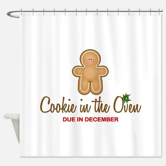 Cookie Due December Shower Curtain
