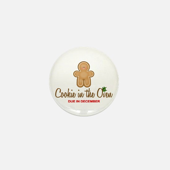 Cookie Due December Mini Button