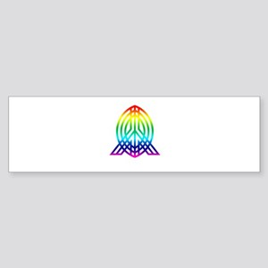 peace bright color Sticker (Bumper)