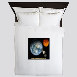 Orion - Bringing Earth Closer To Mars Queen Duvet