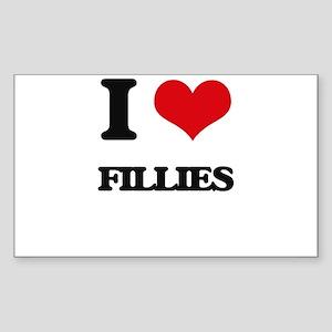 I Love Fillies Sticker