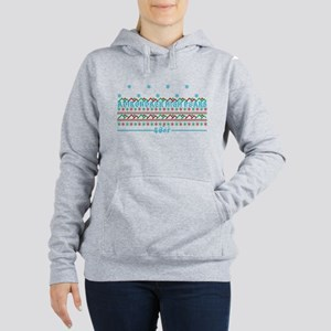 ADK high peaks christmas Women's Hooded Sweatshirt