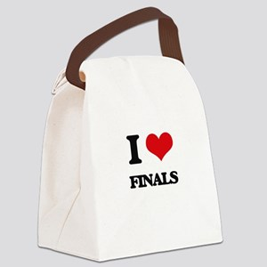 I Love Finals Canvas Lunch Bag