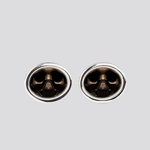 Sentinel 2 Close Crop Oval Cufflinks