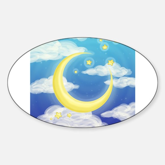 Moon Blue Decal