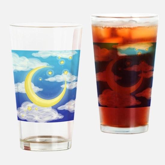 Moon Blue Drinking Glass