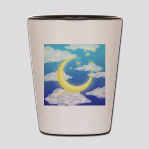 Moon Blue Shot Glass