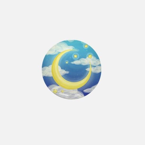 Moon Blue Mini Button