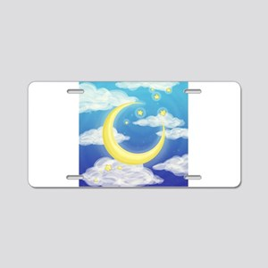 Moon Blue Aluminum License Plate