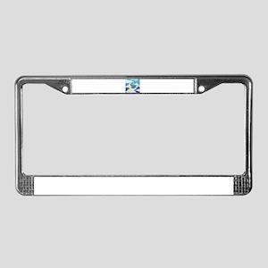 Moon Blue License Plate Frame